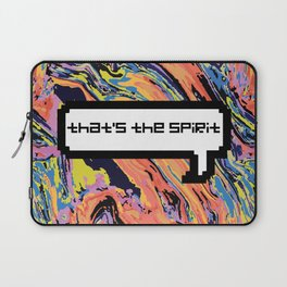 That's The Sprit - Oil Slick Laptop Sleeve