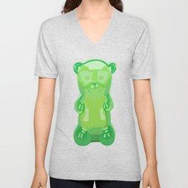 gummy bears green grape flavor Unisex V-Neck