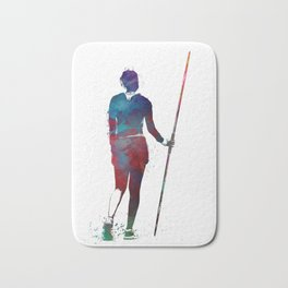 javelin throw #sport #javelinthrow Bath Mat