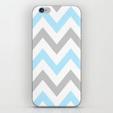 BLUE & GRAY CHEVRON iPhone & iPod Skin
