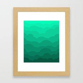 Sage Ombre Clouds Framed Art Print