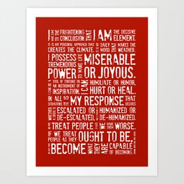 Decisive Element • Red Art Print
