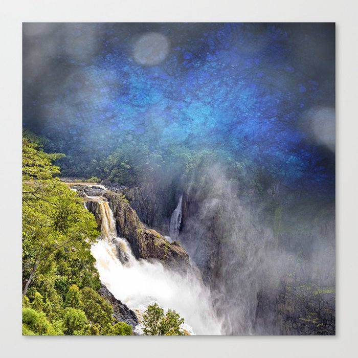 Wild waterfall in abstract Canvas Print