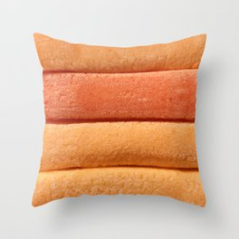 Orange Peach Colored Bubble Gum Layers Throw Pillow