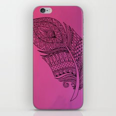 Boho Feather on Watercolors iPhone Skin