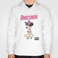 minaj Hoodies featuring Minnie Minaj Anaconda  by J. Neto