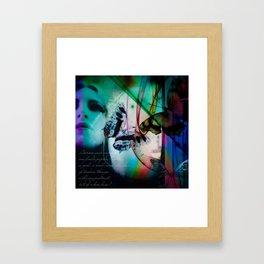 Butterflies in the twilight Framed Art Print