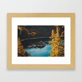 Autumn Lake Framed Art Print