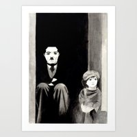 chaplin Art Prints featuring Chaplin by Artusual
