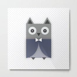 Smart owl Metal Print
