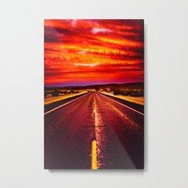 Desert Sunrise, Big Bend, Texas Metal Print