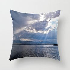 Sun Beams Throw Pillow