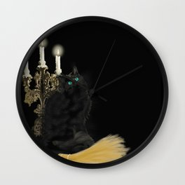 The Witch's Cat Wall Clock