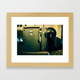 Parking Meter. Pay.  Framed Art Print