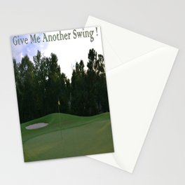 Give me another swing Stationery Cards