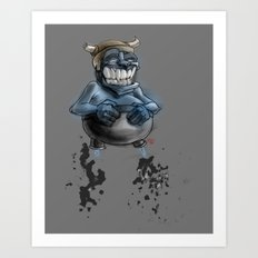Possibly a Tricky Warrior Dwarf Demon Art Print