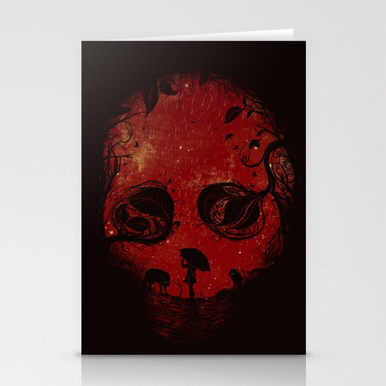 Red Encounter Stationery Cards