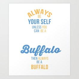 Bison Spirit Animal Cute Funny Gift For Buffalo Bison Lover Art Print