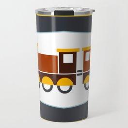 Kids Toy Train Stripes Travel Mug