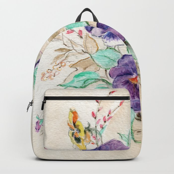 Pansies Bouquet Backpack