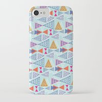 mid century modern iPhone & iPod Cases featuring Geometric Mid Century Modern Triangles 2 by Ryan Deighton