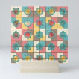 Colorful geometric pattern Mini Art Print