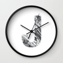 The Letter J- Stone Texture Wall Clock