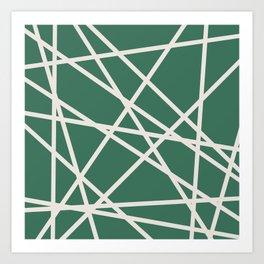 Emerald Lines Art Print