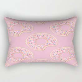 Pink Donut Rectangular Pillow