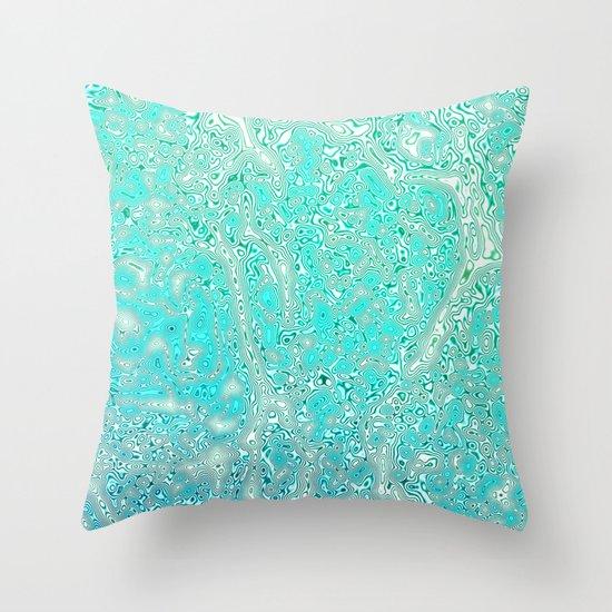 Ocean Whirl Throw Pillow