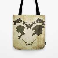 silhouette Tote Bags featuring silhouette by Camille