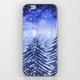 pine forest under galaxy iPhone Skin