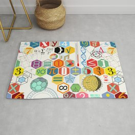 Math in color (white Background) Rug