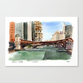 River Walk - Chicago Canvas Print