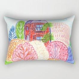 Autumn in town Rectangular Pillow