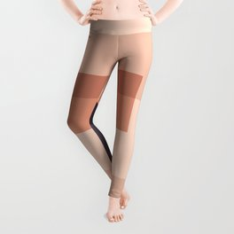 Overlay in Peach and Black Leggings