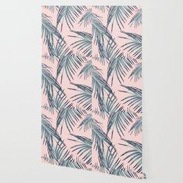 Blush Palm Leaves Dream #1 #tropical #decor #art #society6 Wallpaper