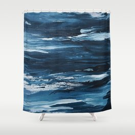 It Comes in Waves Shower Curtain