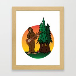 Sunset Sasquatch Framed Art Print
