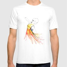 Yulia White MEDIUM Mens Fitted Tee