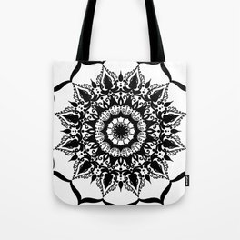 Positive Thoughts Mandala Tote Bag
