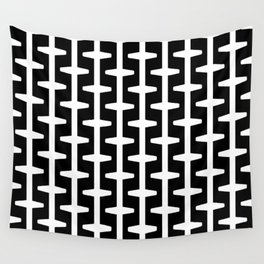 Geometric Pattern 207 (black white) Wall Tapestry