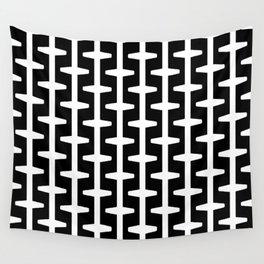 Geometric Pattern 207 (black white) Wall Tapestry