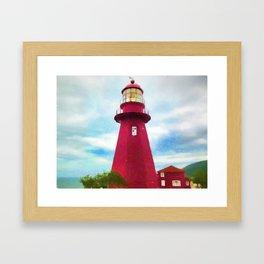 La Martre Lighthouse Framed Art Print