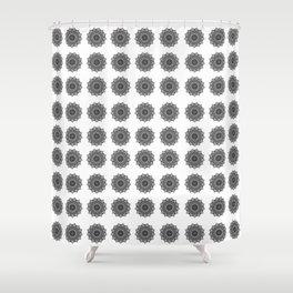 Black and White Mandala | Secret Geometry Shower Curtain