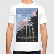 The Coming of the Son of Man White Mens Fitted Tee MEDIUM