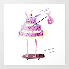 Hobo Bunny Cake Canvas Print