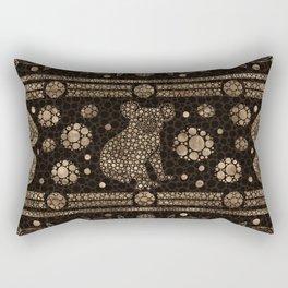 Aboriginal Dot Art Koala Bear -gold Rectangular Pillow