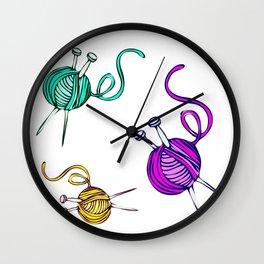Yarn Balls - Multi Color Wall Clock