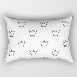 Black Crowns Pattern Rectangular Pillow